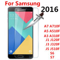 NEW Screen Protector Film Tempered Glass For Samsung Galaxy A3 A5 A7 J1 J3 J5 2016 A510F A710F J120F J320F J510F S6 7 case cover