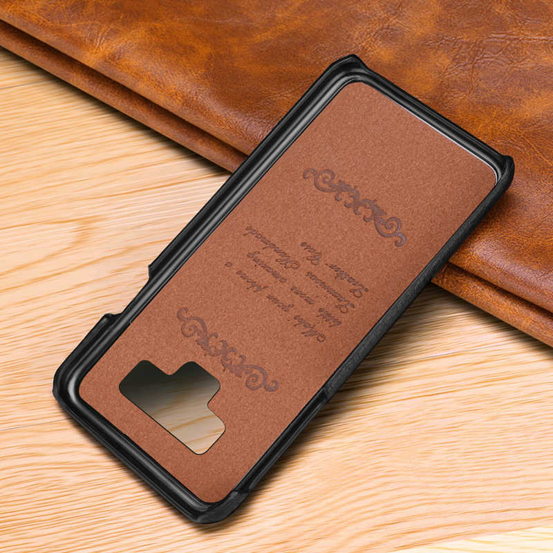 Note9 Genuine Leather Back Case for Samsung Galaxy Note 9 Cover Luxury Litchi Pattern Phone Bag Cases For Samsung Note 9 Case in Fitted Cases from Cellphones Telecommunications