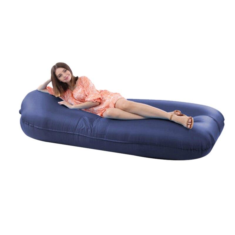 Lit gonflable portatif extérieur de Sofa gonflable paresseux pliant le lit de déjeuner de stockage de bureau de siège gonflable