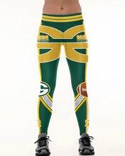 Green Bay p team Fitness legginsy włókno elastyczne Hiphop Party cheerleaderka Rooter spodnie do ćwiczeń Logo spodnie Dropshipping