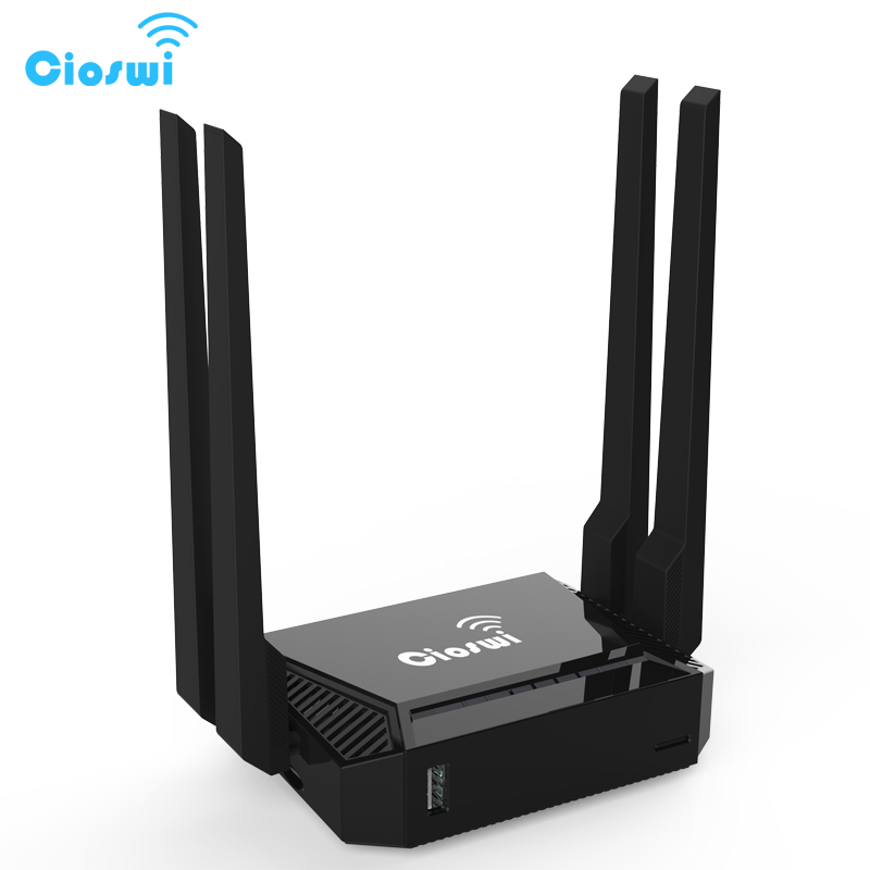 Cioswi Wireless WiFi Router For USB 3G Modem 4 External Antennas 300Mbps 802.11b/g/n OpenWrt Wi-fi Support Omni II Firmware 3372