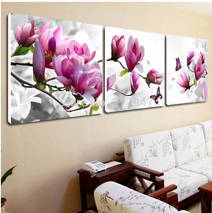 df42cd01dd5 CLSTROSE Abstract Flower Canvas Painting 4 Pieces Wall Art Home Decor Print  HD Posters For Living Room Modular Pictures Unframed-in Painting    Calligraphy ...