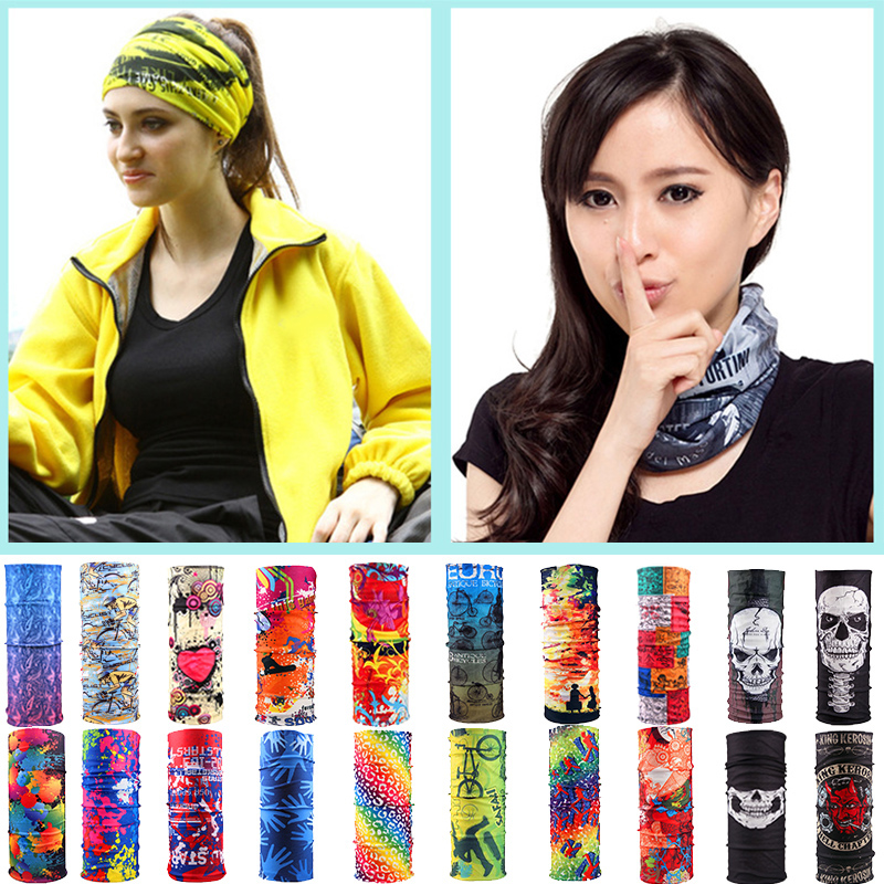 Unisex Motorcycle Cycling Tube Scarf Headband Women Men Multicolor Magic Fashion Head Face Mask Neck Gaiter Snood Headwear