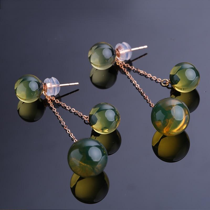 янтарные серьги купить в Китае