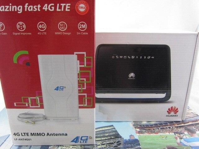Комплект разблокирована Huawei B890-75 100 Мбит беспроводной LTE 4 г мобильный wi-fi 4 г LTE мобильный wifif и двойной 49dBi антенны 3 г и 4 г