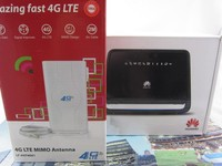 SET of Unlocked Huawei B890 75 100Mbps Wireless LTE 4G Mobile Wifi Router 4g lte mobile wifif & Dual 49dBi Antenna 3G & 4G