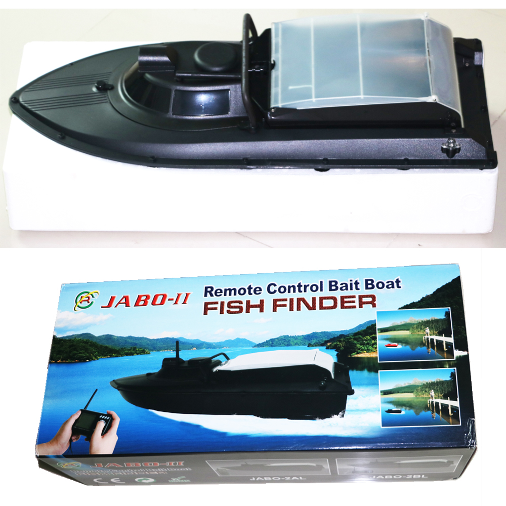 New JABO-2BL Remote Control Bait Boat With Fish Finder Upgrade Eiditon of JABO-2BS JABO-2B Jabo 2bs 2b RTR RC boat free shipping factory price catamaran hull jabo 5a long distance two hoppers rc bait boat for releasing hook