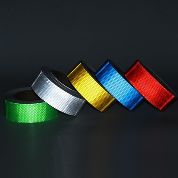 5CM*45M Self-Adhesive PVC Reflective Warning Safety Tape Waterproof Reflective Sticker