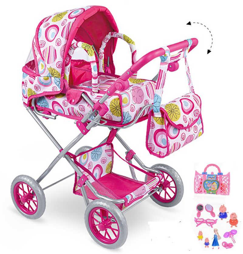 Pushchair Doll Stroller Toy Kids Toy Gift Baby Dolls Nursery Furniture D