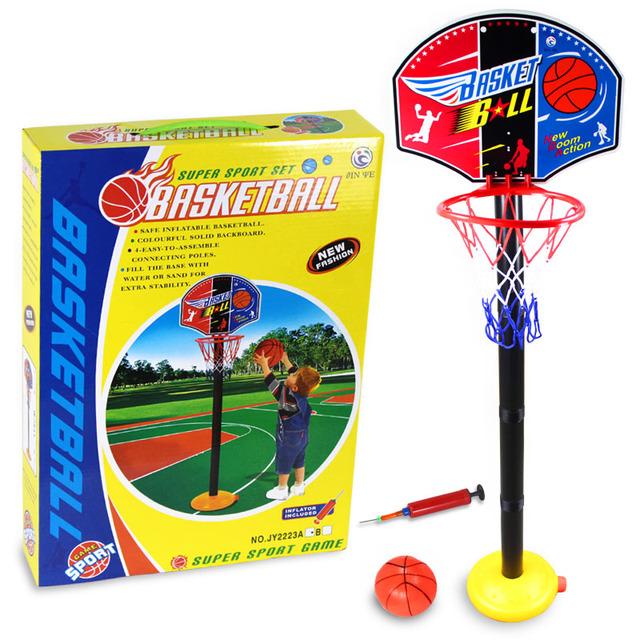 NUEVO Caliente Del Bebé Juguetes/Niños Deportes Set Baloncesto/Baloncesto Stands con el Lazo de la Bomba Juguete Al Aire Libre y de Interior