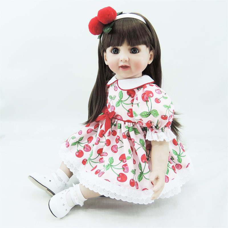 New Designed 22 Smiling Boneca Baby Alive Doll Adora Princess Toddler Doll in Cherry Dress for Girls Christmas Gifts Brinquedos