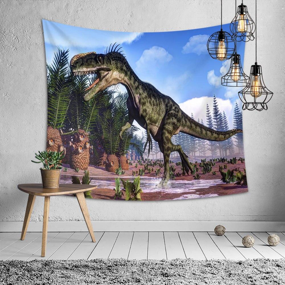 3d Dinosaur Hippie Tapestry Wall Fabric Jurassic Carpet Trippy Hanging Boho Home Decor Throw Blanket Picnic