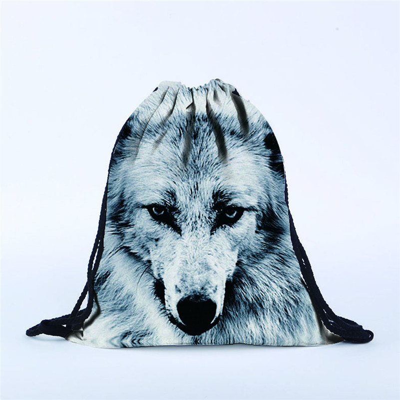 NEW 2017 Unisex  Backpacks 3D Printing dog Bags Drawstring Backpack Women Men Polyester High Quality Rucksack A8 amazing women men bag unisex backpacks solid bags drawstring backpack rucksack school bags travel oganizerssac a dos