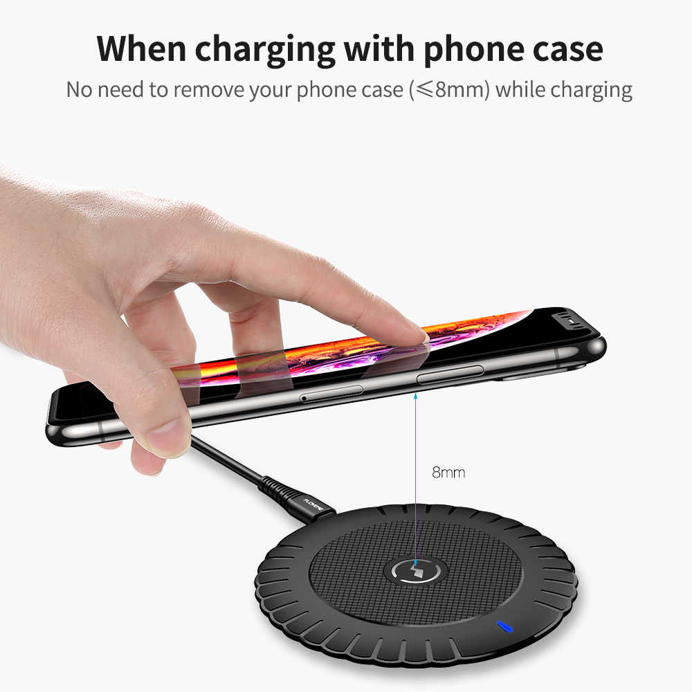 FLOVEME Qi cargador inalámbrico para Samsung 10w cargador rápido almohadilla de carga inalámbrica para Iphone Xiaomi mi Huawei móvil inalámbrico teléfono