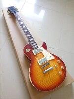 Personalizado exclusivo Billy Gibbons LP estándar de la guitarra eléctrica de una pieza de cuello y cuerpo de una pieza maestra construir envejecido LP de la guitarra