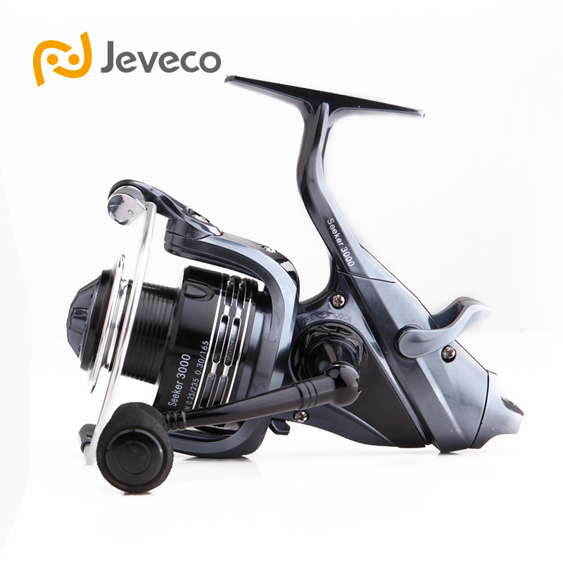 Jeveco Seeker Spinning Fishing Reel, Rear Drag System Carp Fishing Reel 5.3:1 5+1BB Reel Fishing, 3000 6000 Reels tsurinoya tsp3000 spinning fishing reel 11 1bb 5 2 1 full metal max drag 8kg jig ocean boat lure reels carretes pesca molinete