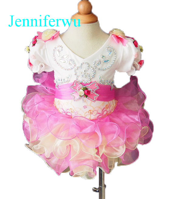 crystal beaded baby girl formal dress 1T-6T E033-1 интеркулер kang wild 1 6t 1 6t 53039700174