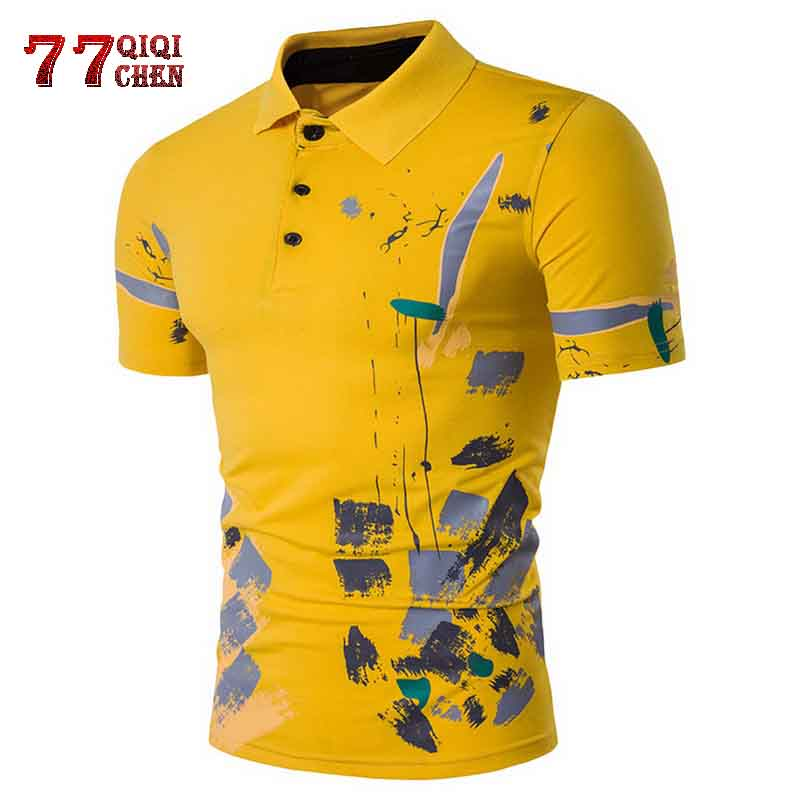 Men   Polo   Shirt Casual Short Sleeve Cotton   Polo   Shirt Print Slim Fit Camisa   Polo   Shirt New Summer Male Clothes eden park homme