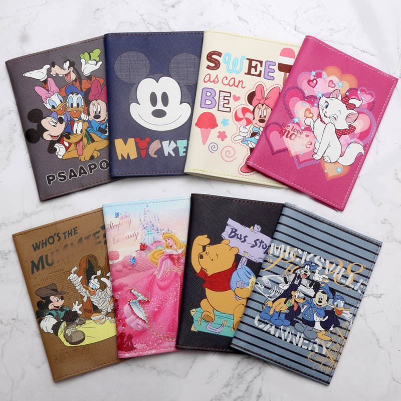 Fashion Cute Cat &Duck Animals Cartoon Passport Cover Men Women PU Leather Travel Passport Holder Case Card ID Holders 14.5*10cm