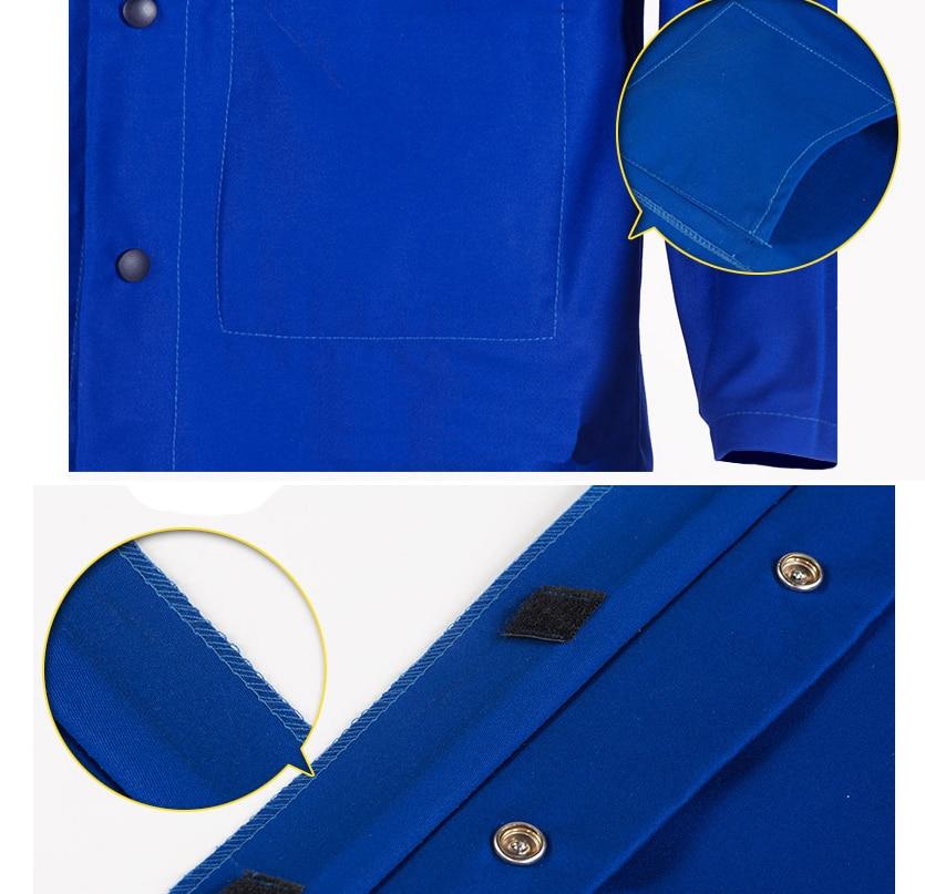 Șorț de sudură FR Bumbac Retardant Flamă Albastru Jacheta de - Securitate și protecție - Fotografie 4