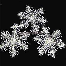 300 STKS/10 Packs Wit Vlokken Sneeuw Sneeuwvlok Ornamenten Vakantie Kerstboom Decortion Festival Party Accessoires(China)