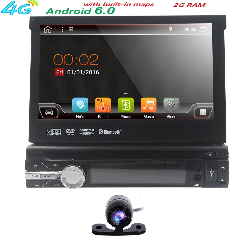 2gb 16gb car stereo autoradio gps navigation for universal single android 6 0 1 din quad core. Black Bedroom Furniture Sets. Home Design Ideas