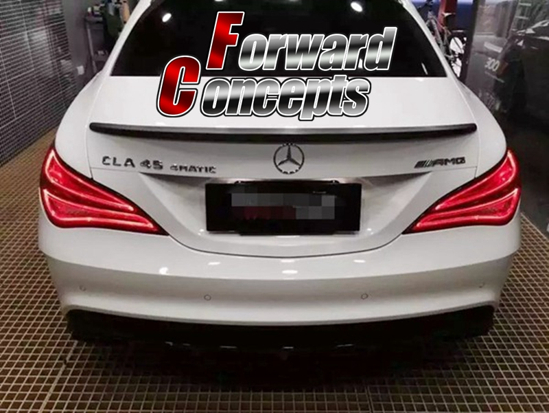 FOR 2013-2019 Carbon Fiber W117 <font><b>CLA250</b></font> CLA45 CLA180 CLA200 A Style 4D REAR WING TRUNK <font><b>SPOILER</b></font> image