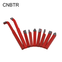 9pcs YG8 Alloy Red Cutter Turning Tool Automatic Lathe Tool Set 10 X 10mm