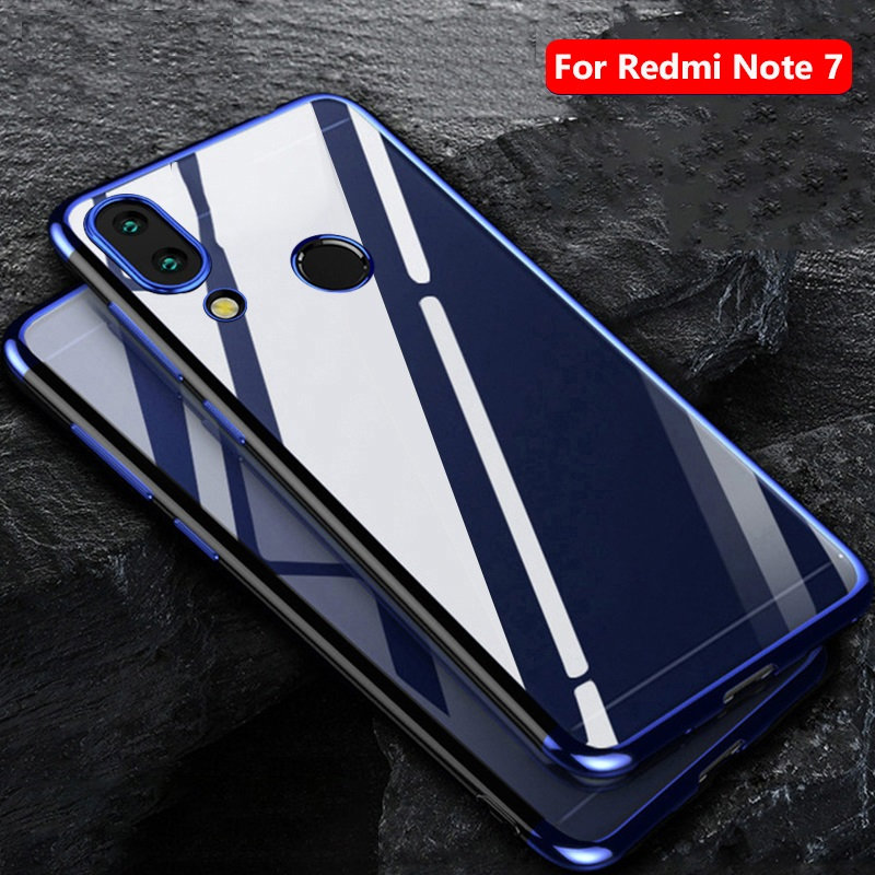 Surplus Wind For <font><b>Redmi</b></font> Note <font><b>7</b></font> Phone Case <font><b>Back</b></font> <font><b>Cover</b></font> Transparent Plating TPU Soft Silicone Slim <font><b>Back</b></font> <font><b>Cover</b></font> For <font><b>Redmi</b></font> Note <font><b>7</b></font> Pro image