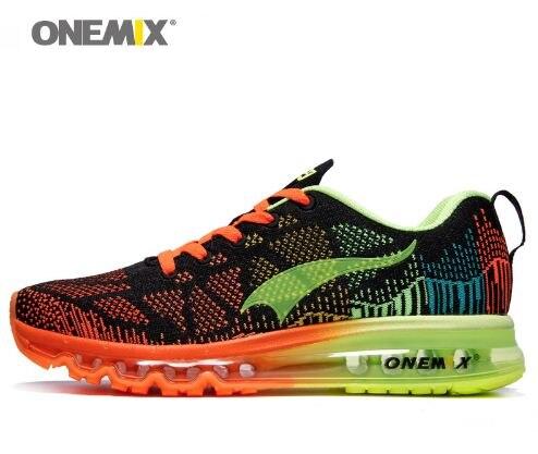 Onemix Для мужчин спортивные кроссовки Прогулки ритм Для мужчин кроссовки дышащая сетка Открытый спортивной обуви цвета обуви Европейский ра...