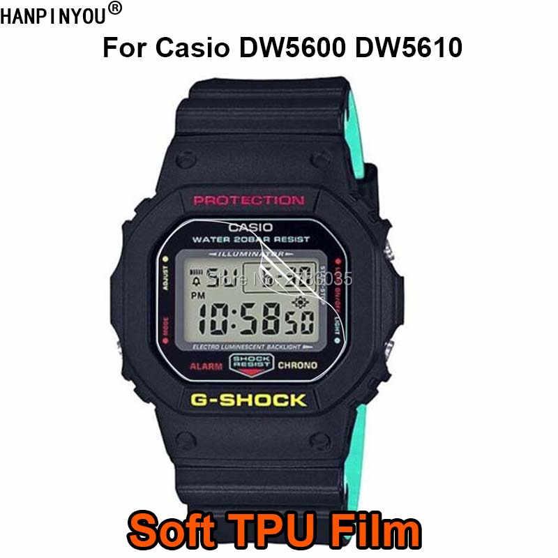Dw5600 5600 Suave Cubierta Pantallano Film Protector De 5610 Para Vidrio La Casio Dw5610 Tpu Reloj Completa Templado Dw tsrQdCh