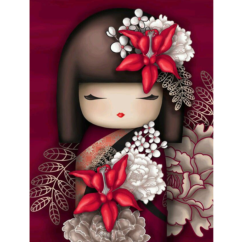 Best seller 5d diy full square drill diamond painting accessories,Japanese girl,cross stitch embroidery Wedding decoration image