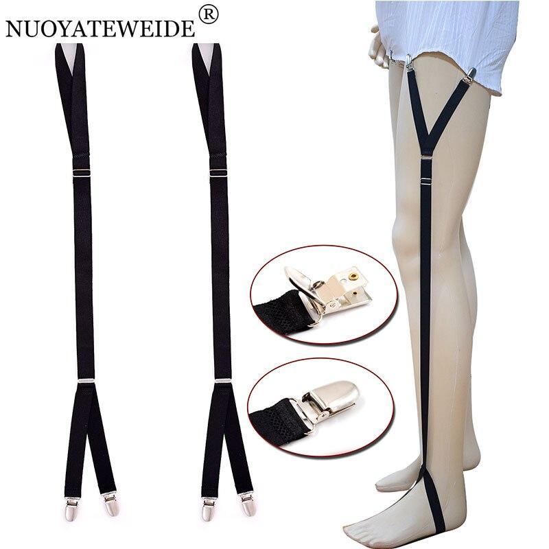 Straight Style /& Y style Uniform Shirt Stay Shirt Holder Sock Elastic Suspender