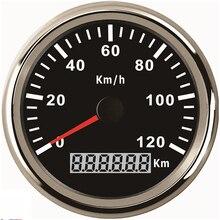 Universal 85mm GPS Digital Speedometer Stainless Waterproof Gauge 120KM/H Speed for Car Truck 12V 24V цена