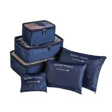 6 шт./компл. для путешествий, органайзер, хранилище, сумочка, сумки Портативный Чемодан Органайзер одежда аккуратные чехол костюм чехол Упаковка Куб чехол