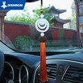 Quartzito dreamcar encantos do carro para espelho retrovisor espelho de carro pingente carro pendurado ornamentos de jade branco decoração pingente