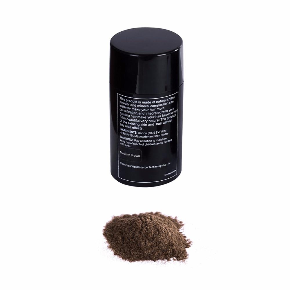 15g Medium Brown Hair Building Fibers Hair Loss Treatment Care Conceal Thinning Hair Fiber Eyelash Extension Beauty #3TA00618#