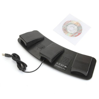MYLB FS3 P USB Triple Foot Switch Pedal Control Keyboard Mouse PC Game Plastic
