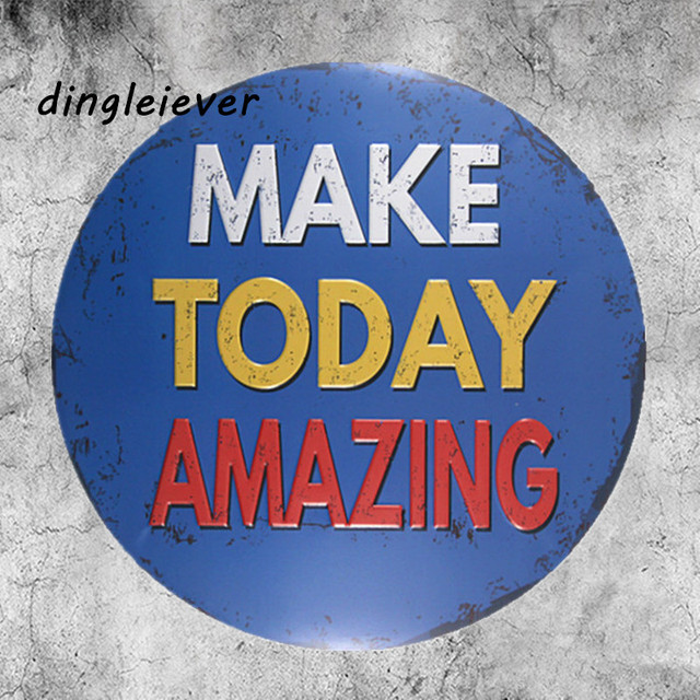 Make Today Amazing Subtitle Poster Neon Sign Bedroom Wall Art Coffee Signs  For Wall
