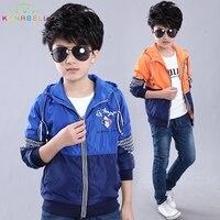 New Kids Windbreaker Boys Spring Jacket Toddler Boys Blazer Children Hooded Sport Jacket Boy Football Outerwear