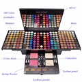 Newest Asian & South America Colors Professional 180 Full Colors Make Up Kit Blush Concealers Piano MakeUp Palette For Xmas Gift