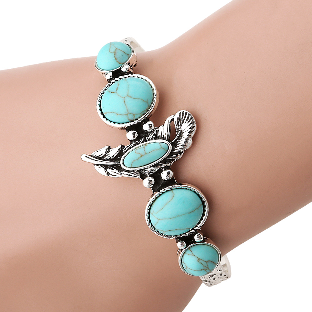 rock american item navajo leaves jewelry silver eagle bracelets flowers bracelet turquoise post trading vintage native