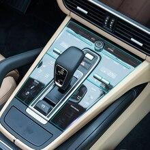سيارة الداخلية وحدة التحكم والعتاد لوحة واقي للشاشة شفافة طبقة رقيقة واقية ملصقا ل بورش كايين 2018 2019 اكسسوارات