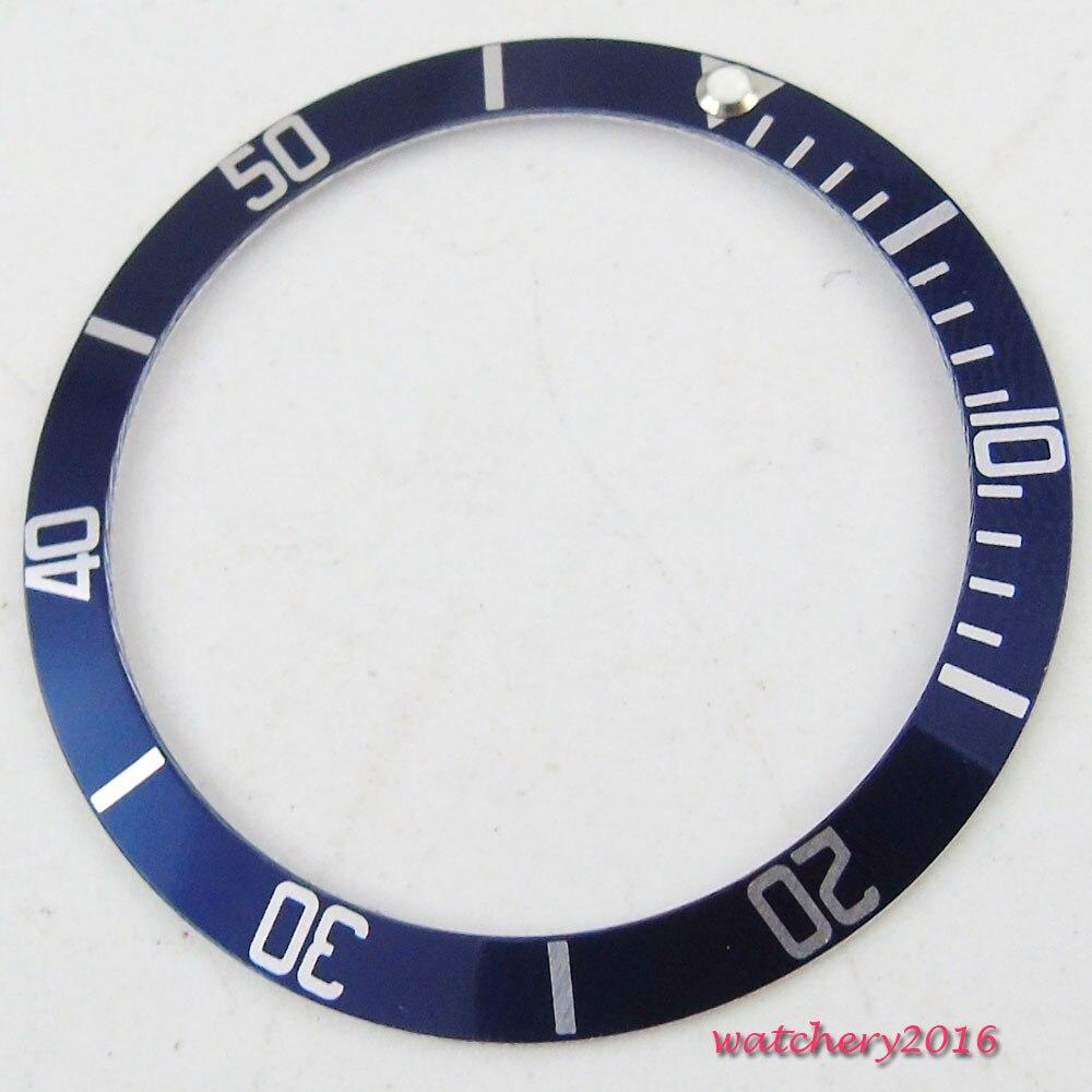 Novo Azul Titânio Relógio Inserção Moldura Fit 41mm Corgeut