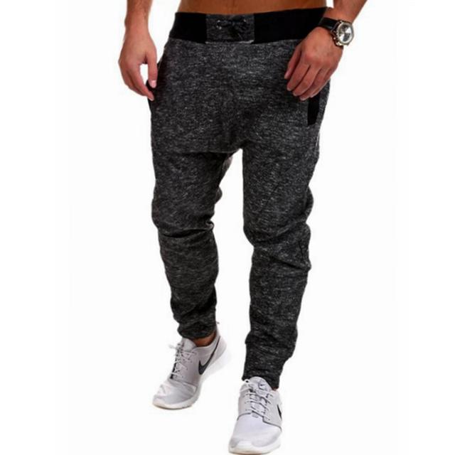 Corredores dos homens Pantalon 2017 Masculina Marca Homens Calças Harém Cor Sólida Pano Bordado Calças Sweatpants Jogger Pantalone