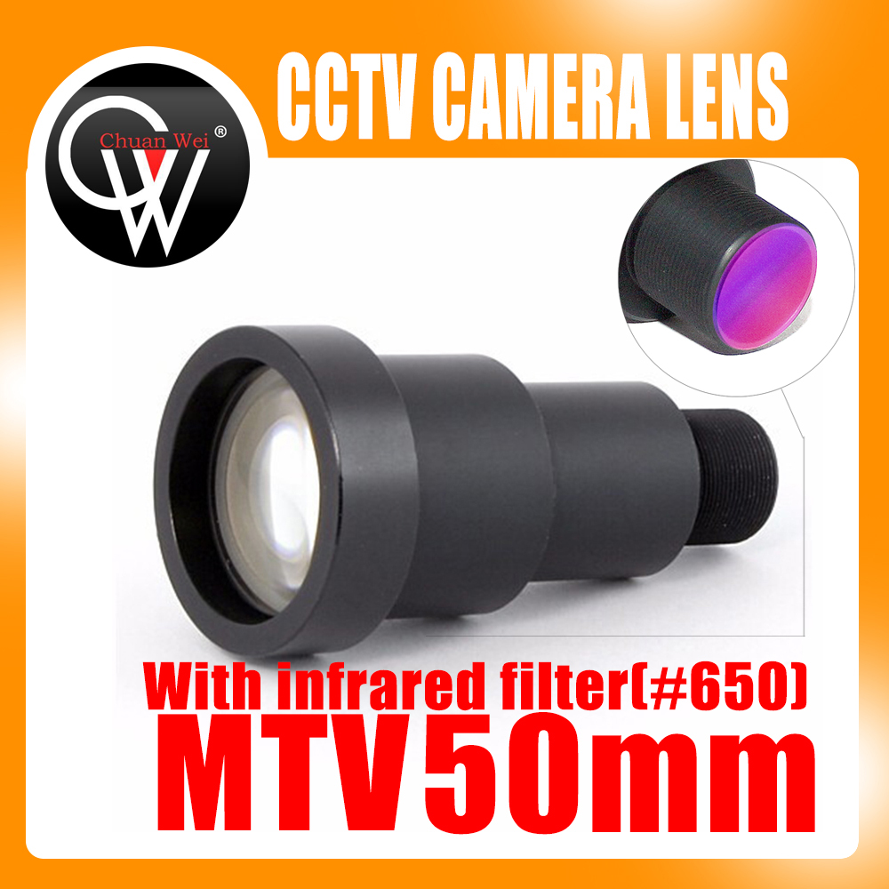 New 1/3'' 50mm Lens 6.7 Degree M12 CCTV MTV Board IR Lens With Infrared Filter For Security CCTV Video Cameras