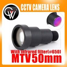 Новый 1/3 »50 мм объектив 6,7 градусов M12 видеонаблюдения MTV совета ИК-объектив с инфракрасный фильтр для видеонаблюдения видеокамеры