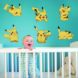 Zs Sticker Pokemon Wall Stickers kids Home Decor Cartoon Wall Decal for Kids Room Decal Baby Vinyl Mural Nursery