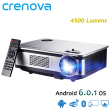 CRENOVA Newest Home Theater Projectors For Full HD 1920*1080p Android 6.0 7.1 OS Projector With WIFI Bluetooth 4500 Lumens