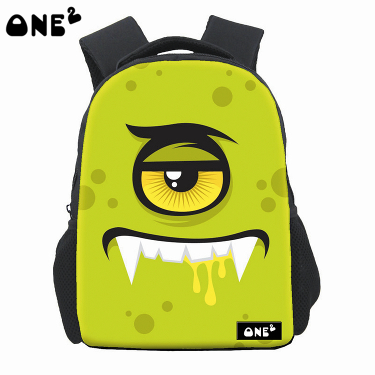 6c67619ea4 ONE2 Design cute monster pattern famous backpack for high school girls  brand backpack wholesale school bag-in Backpacks from Luggage   Bags on ...